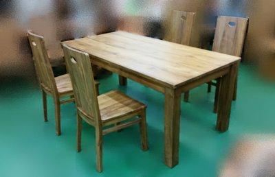 宏品二手傢俱館 實木家具賣場 TK-A0HE *實木柚木餐桌椅組 180cm一桌4椅* 柚木家具庫存拍賣 洽談桌 會議桌