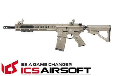 【翔準軍品AOG】ICS CXP-UK1 RIFLE 步槍長管版 (後出線)(沙) EBB Keymod M-Lok 全