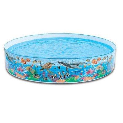 [衣林時尚] INTEX 8呎硬膠游泳池 244x46cm (高) (免充氣)建議3歲以上 56453