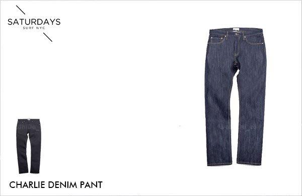 WaShiDa【000557】SATURDAYS NYC 美國品牌 CHARLIE 原色 丹寧 牛仔 褲 現貨 SALE