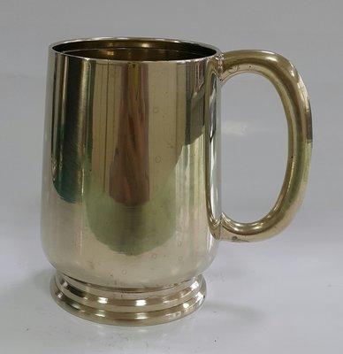 449高檔英國鍍銀茶杯Vintage Silverplate Ornate teamug Vintage Etched