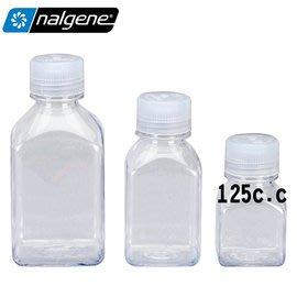丹大戶外【Nalgene】透明方形儲存罐125ml 液體儲存罐/透明罐/多用途罐/廚房/露營 562015-0125