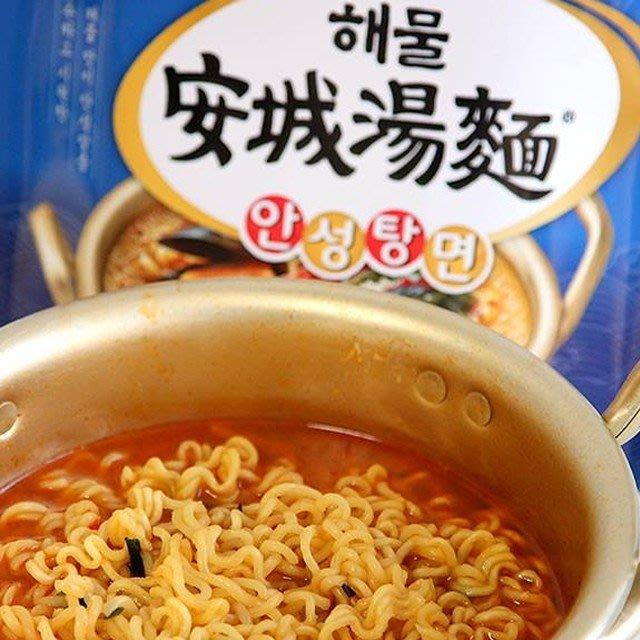 【BOBE便利士】 韓國 農心 安城海鮮湯麵 單包 112g