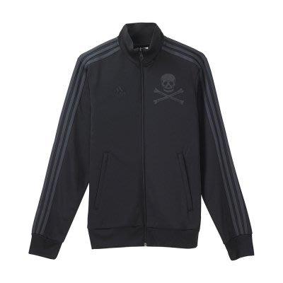 adidas 奧蘭多海盜隊系列 基本款 三條線 慢跑 訓練 針織外套 立領夾克 AH3667 黑灰 現貨 公司
