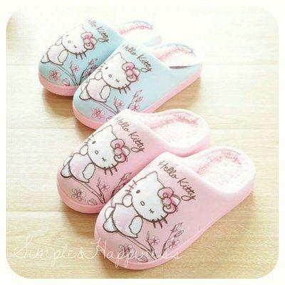 Hello Kitty保暖防滑家居地板拖鞋