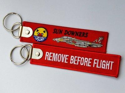 VF-111 SunDowners落日者 Remove Before Flight飛行前拆除鑰匙扣