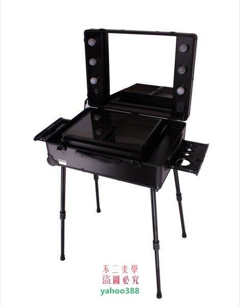 美學194Sunrise 多層帶鏡子燈泡拉桿專業化妝箱跟妝化妝箱DB-30❖05129