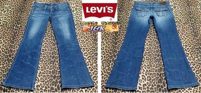 【J&K嚴選】日本LEVIS 牛仔褲 曲線修身彈性款 (靴型) 女款-顏色:刷色藍 尺寸:29腰【特賣】LV來自星星的你