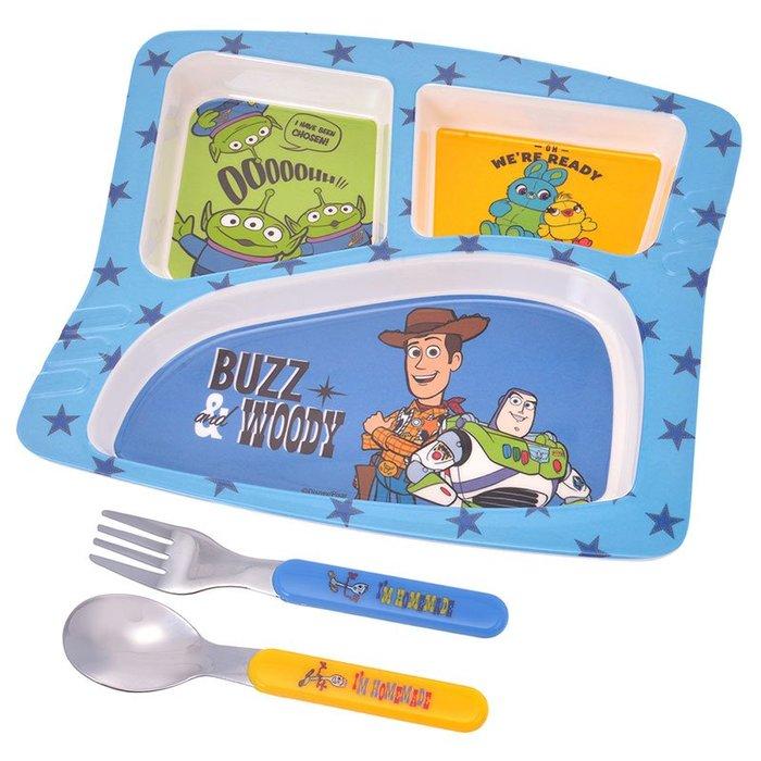 《FOS》日本 迪士尼 玩具總動員 4 兒童 餐具 湯匙 叉子 餐盤 胡迪 巴斯 開學 孩子最愛 禮物 2019新款