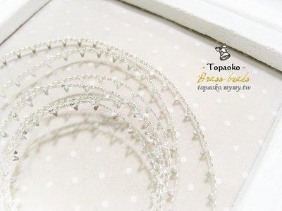 串珠材料˙隔珠配件 黃銅鍍純銀蕾絲爪鑲包邊條一份15cm【DA82】4mm飾品金屬蕾絲爪條DIY《晶格格的多寶格》