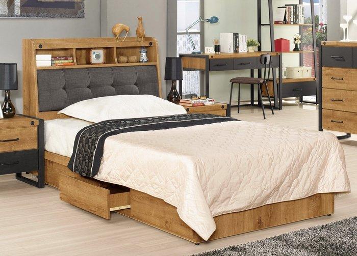 布朗克斯3.5尺被櫥式單人床/床頭箱+三抽屜床底😊暖暖屋傢俱傢飾😊