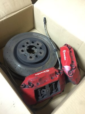 布魯斯原裝Brembo Louts4活塞卡鉗拆車Audi A3 VW Golf5 Gti Touran tiguan用