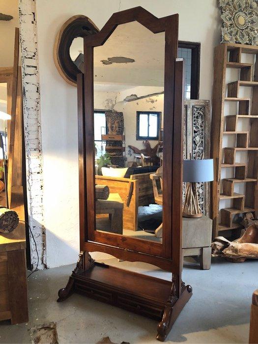 桃花木穿衣鏡立鏡 (L80 W57 H194 cm)