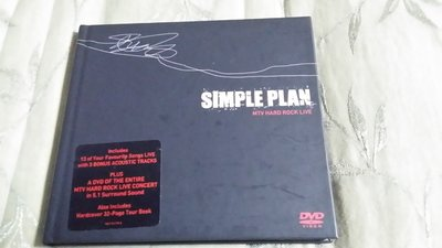 R西洋團(二手CD)SIMPLE PLAN MTV HARD ROCK LIVE~書殼版~CD+DVD