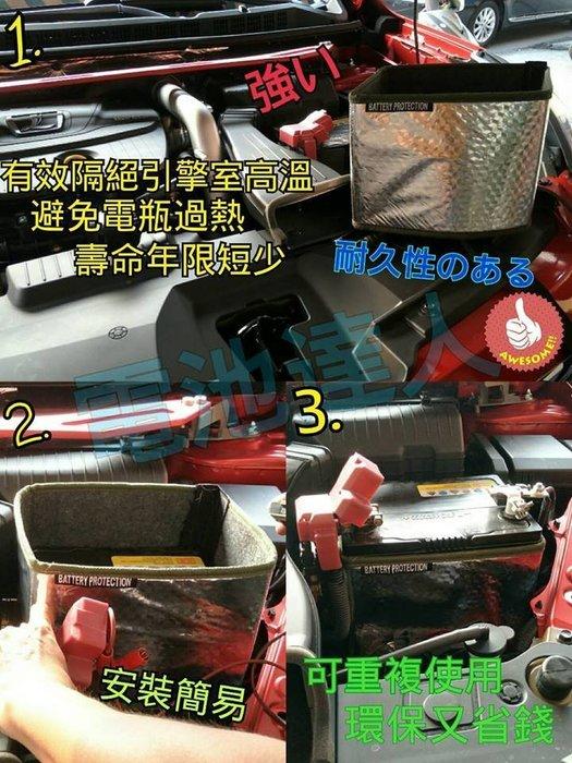 【電池達人】杰士 GS 統力電池+3D隔熱套 65B24LS 適用 46B24LS WISH K6 K8 K12 自取