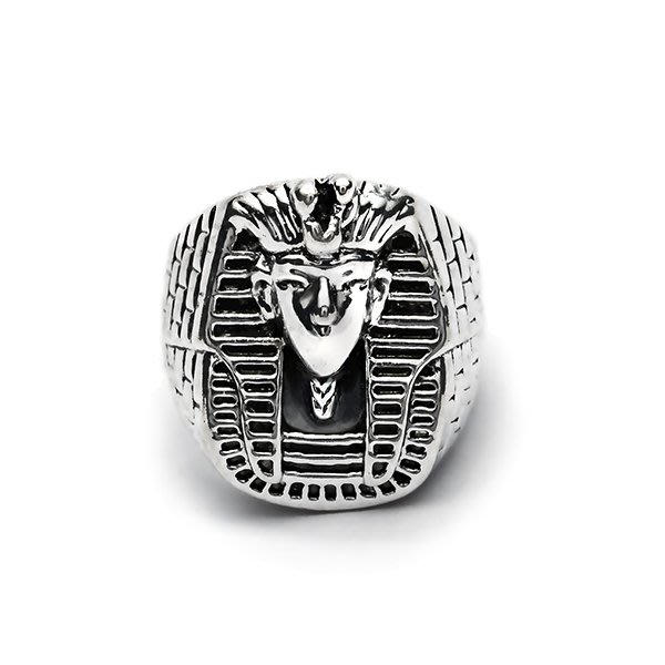 藤原本鋪 SOLO Egypt Pharaoh Mask Ring 埃及法老面具戒指 古銀
