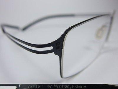【信義計劃】全新真品 Eyelet 眼鏡 EL44 鏤空金屬方框 一體成型 超輕超越 Infinity Lindberg