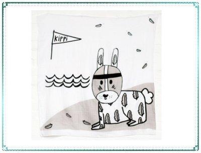 【Q寶寶】澳洲 Kippins 有機棉包巾 MUSLIN WRAP & SNOOZE BLANKET 瑞恩小兔_現貨