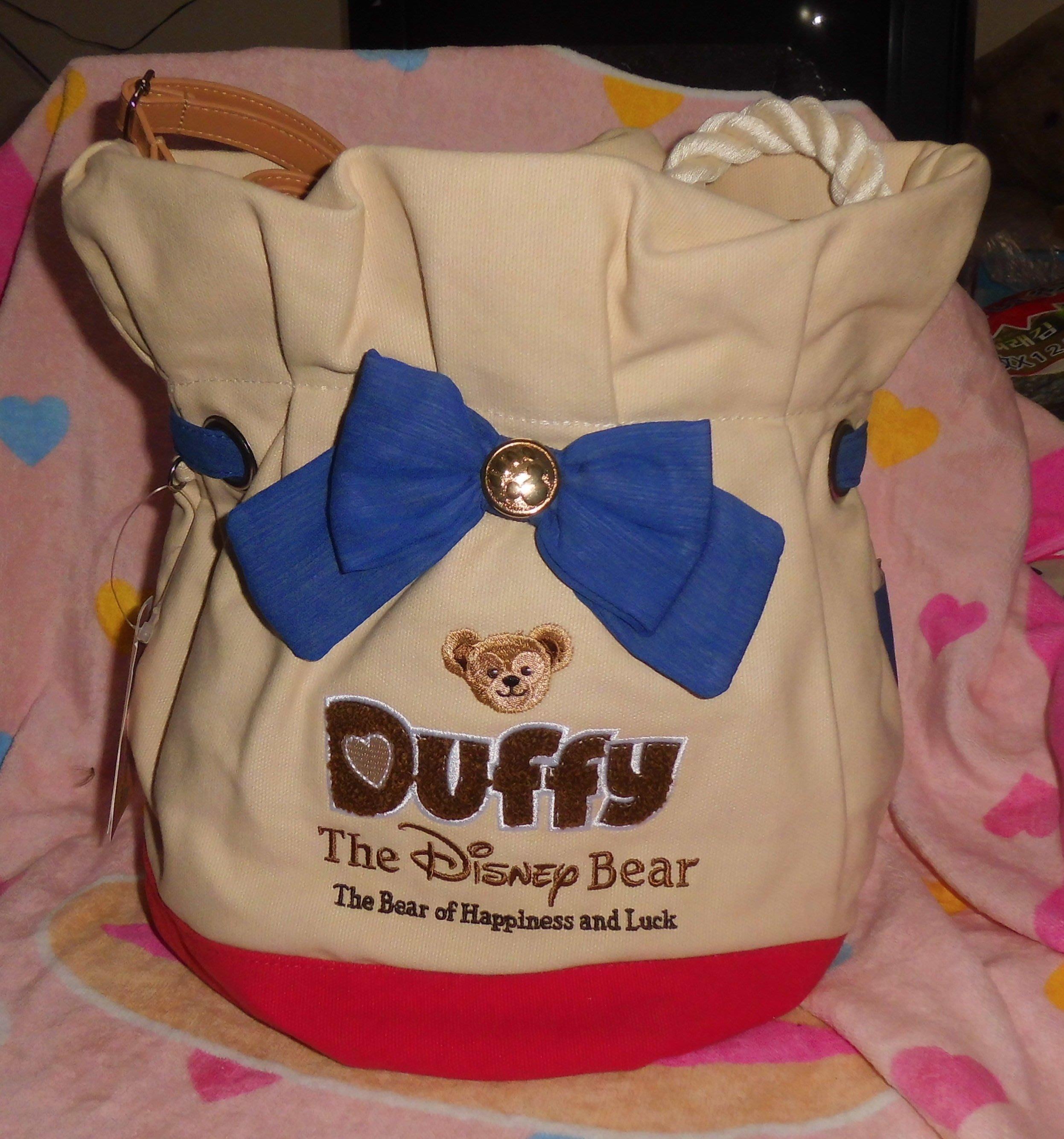 日版﹝Disney﹞限量 ※※Duffy The Disney Bear ※※【達菲熊造型】束口袋側背包
