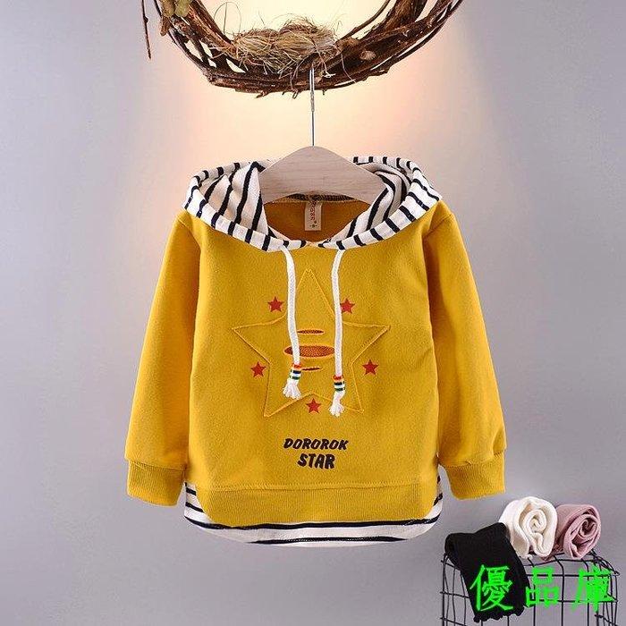 優品庫童裝女寶寶長袖T恤男童秋裝2019新款外套春季女孩衛衣韓0-1-2-3歲
