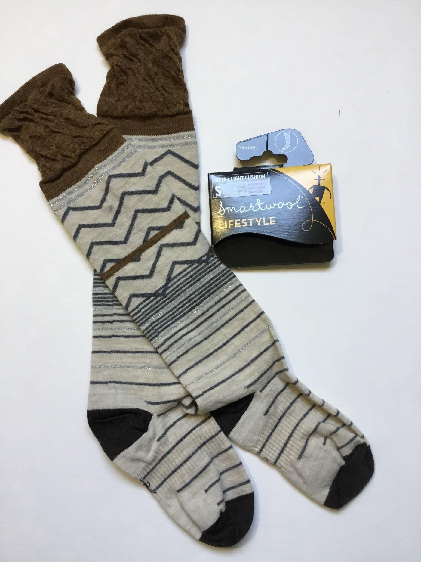 現貨S號女生超長羊毛襪 SmartWool METALLIC OPT FRILLS 及膝薄底美麗若長襪