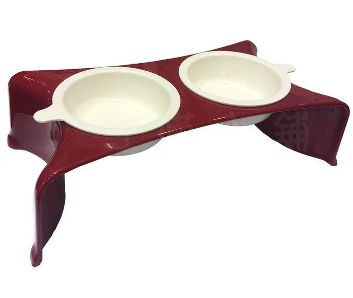 ☆汪喵小舖2店☆ PETIFUL寵物餐桌碗組 犬貓通用雙碗餐桌 // 46x37公分 適合小動物、小型犬