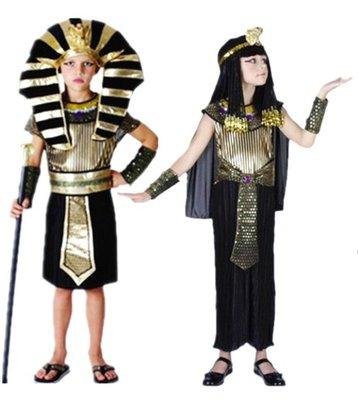 乂世界派對乂萬聖節服裝,萬聖節服飾,變裝派對,兒童變裝服-兒童埃及豔后/法老王服裝