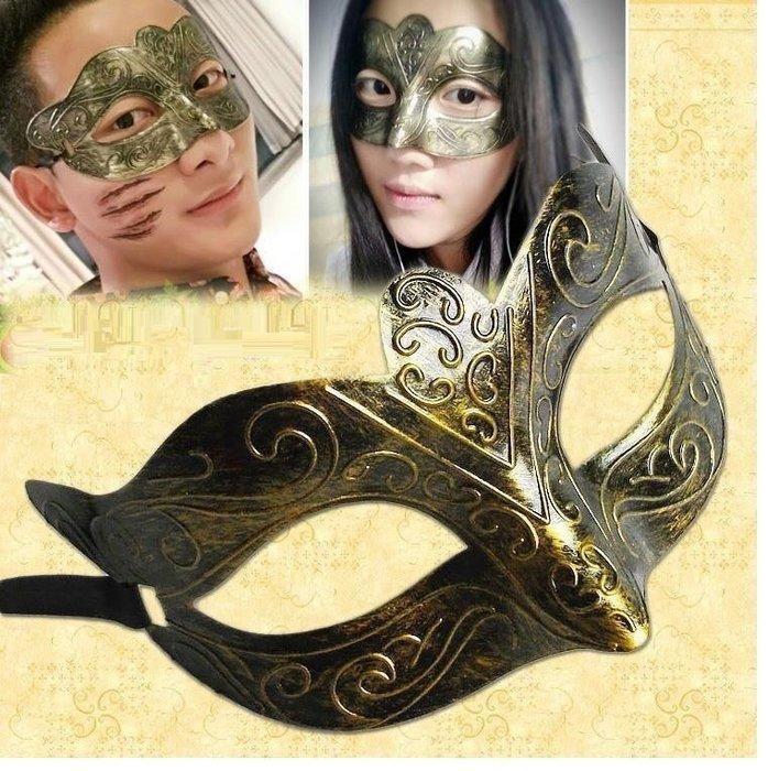 =吉米生活館= 海盜面具 派對面具 仿古面具 雕花面具 羅馬鬥士面具 爵士面具 半臉面具 舞會面具 古羅馬面具 表演面具