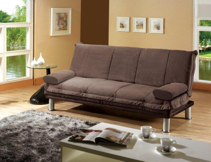 【DH】貨號G238-1《溫士利》布面雙人沙發床/躺椅˙/可拆洗/附抱枕/小空間設計˙質感一流˙主要地區免運