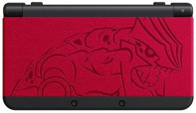 NEW 3DS主機 藍寶石(蓋歐卡版)或紅寶石(固拉多版)限量機+ 保護貼 + 硬殼包+ 充電器(小強電玩)