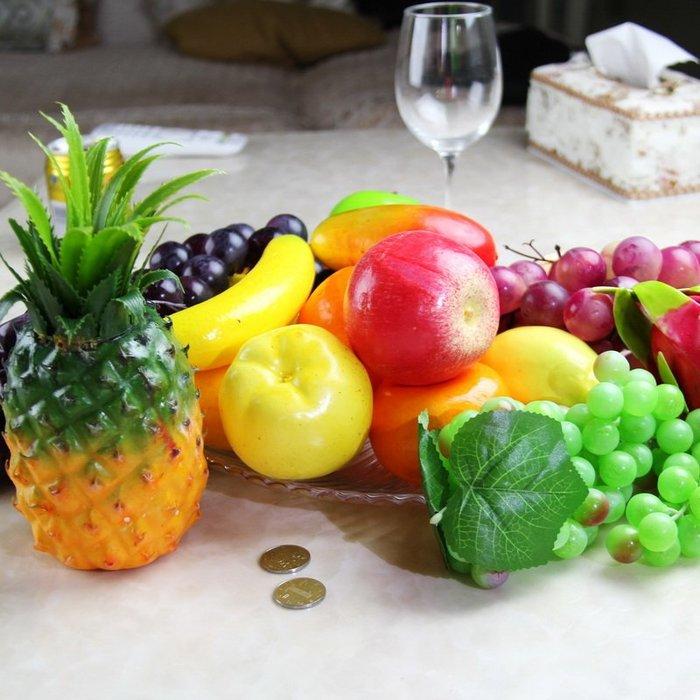 哈尼店鋪*仿真假水果蔬菜藤條紅蘋果橡膠葡萄 裝飾 綠植園藝花卉植物墻絹花優惠推薦