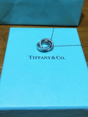 專櫃正品【Tiffany&Co】經典款1837雙戒指項鍊/雙環吊墜項鍊/純銀925項鍊