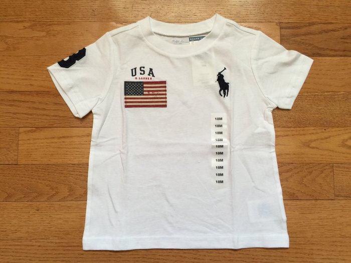 【Polo Ralph Lauren】RL 男寶寶 短袖T恤 刺繡大馬 國旗 數字3 純棉 素面短t 圓領短袖T恤 潮T