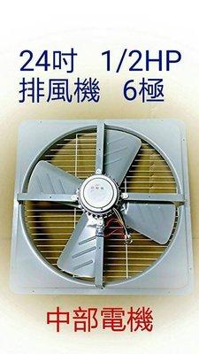 『中部批發』24吋 1/2HP 工業用排風機 吸排扇 通風機 抽風機 電風扇 吸排扇 大型通風機 工業用排風MIT