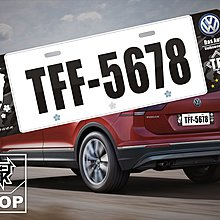【STREET PARK】訂製 歐盟 車牌裝飾 VW Tiguan Golf【原價780$ 特價 580$】