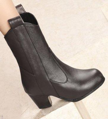 AS0140 34-39碼 韓系 簡約 女靴 短靴 馬靴 靴子 短筒 踝靴 大碼 女鞋 大尺碼女鞋