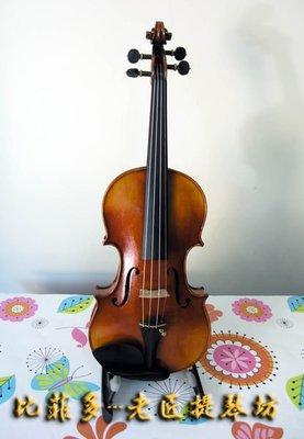 {亨德爾音樂-安畝提琴工作室} 純正老歐料4/4手工製獨板小提琴.仿古油性漆-超低價$59999-可試琴