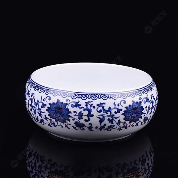 5Cgo【茗道】含稅會員有優惠  19905557694 8寸茶洗大號筆洗杯洗青花瓷茶洗洗杯碗茶道配件洗碗杯養魚缸