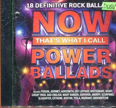 *還有唱片四館* NOW THAT'S WHAT I CALL POWER BALLADS 二手 D0567(封面底破)