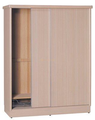 【DH】貨號T4713經典木心板(生活傢)4X7推門衣櫃 含內鏡 ,
