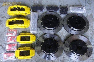 慶聖汽車 BREMBO 18Z前六活塞卡鉗355加大碟 VW GOLF TIGUAN TOUAREG SCIROCCO