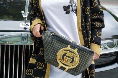 The Gucci x Dapper Dan Clothing Collection 限定款腰包 黑金