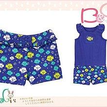 【B& G童裝】正品美國進口GYMBOREE魚兒圖樣藍色棉質短褲12-18-24mos,2yrs