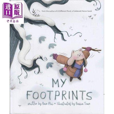 Basia Tran My Footprints 英文原版 我的腳印 精品繪本 勇氣與溫暖 進口圖書
