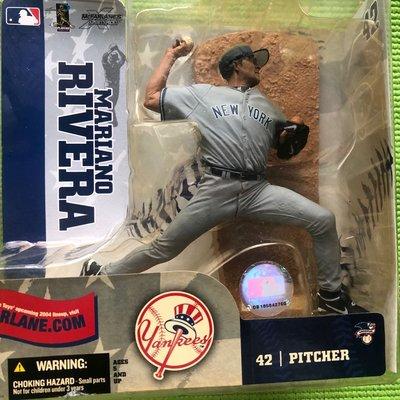 MLB 麥法蘭公仔 紐約洋基隊 救援王 李維拉 Mariano Rivera 42號客場球衣公仔