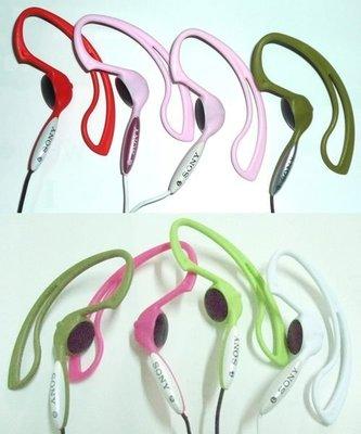 非仿品,日本 SONY MDR-J10 耳掛式 運動型立體聲耳機,適 電腦 錄音筆 MP3,粉紅,簡易包裝,全新