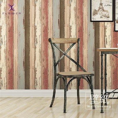 【夏法羅傢飾】英式復古系列 ‧ 復古刷舊木紋壁紙 ‧ 木板拼接壁紙 XW-E20-81