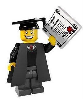 絕版品現貨【LEGO 樂高】玩具 積木/ Minifigures人偶包系列: 5代 8805 | #1 畢業生+畢業證書