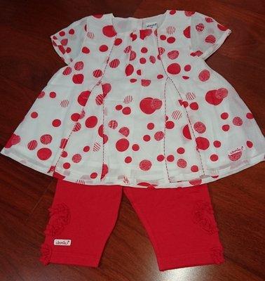 奇哥 absorba 紅色城市(套裝), 紅點點, 尺寸: 4A, 賣場優惠嬰幼兒服飾購5件9折,10件以上再享免運