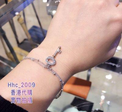 香港專櫃正品 Agnes b 17 秋冬簡約鎖匙款b字logo水鑽女款手鏈